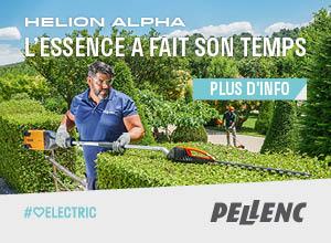 PELLENC TAILLE-HAIES HELION ALPHA PORTRAIT 300220 DECEMBRE 2019