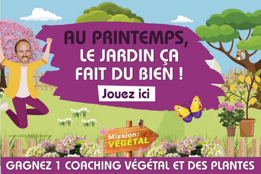 VAL'HOR, Interprofession française de l'horticulture, de la fleuristerie et du paysage : dès le 16 mars 2019, pour le début du printemps, Mission : Végétal est tous les soirs sur M6 avec un grand jeu organisé en ligne