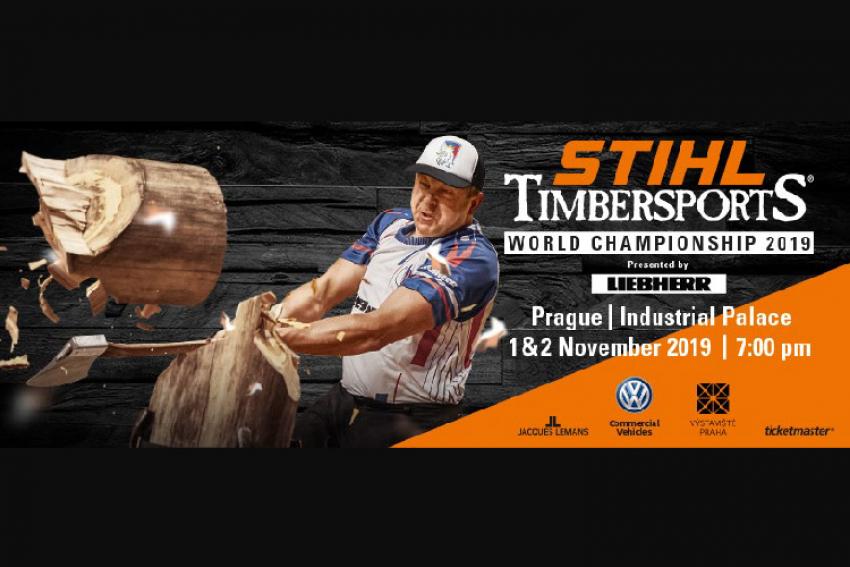 STIHL TIMBERSPORTS® : Championnats du monde à Prague les 1er et 2 novembre 2019 avec les athlètes bûcherons du monde entier dans une compétition de sport extrême