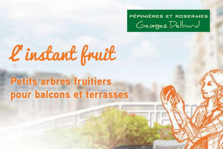 PEPINIERES ET ROSERAIES GEORGES DELBARD : Découvrez «L'instant fruit», la nouvelle collection de variétés de fruitiers pour petits espaces (balcons, terrasses ou petits jardins) du 17 au 19 mai 2019 aux Journées des Plantes du Domaine de Chantilly