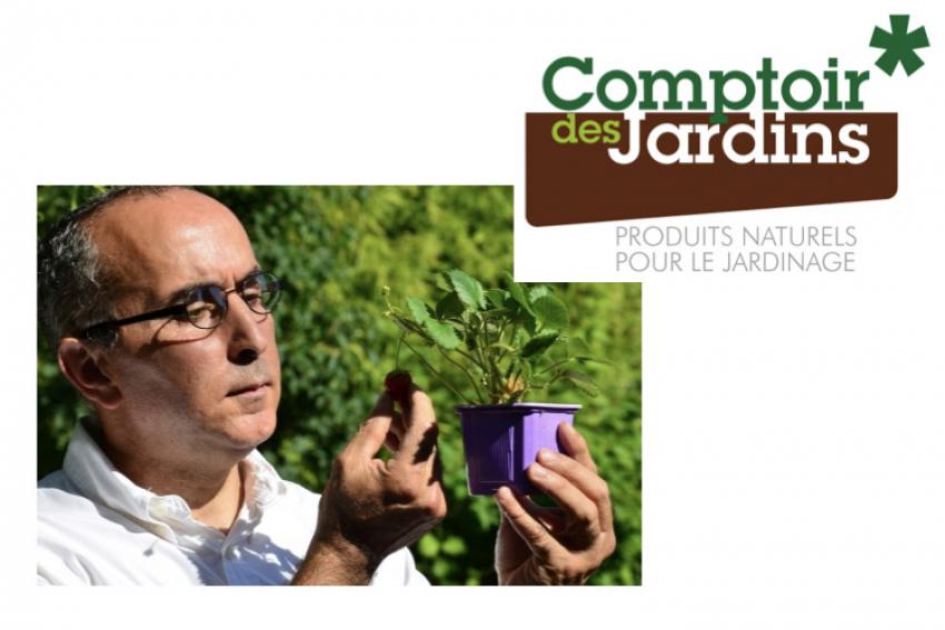 Azédine Zérourou, fondateur du site de vente en ligne Comptoir des Jardins, propose des produits inédits pour le jardin et la maison 100% naturels afin de jardiner sans OGM, sans pesticides ni engrais chimiques