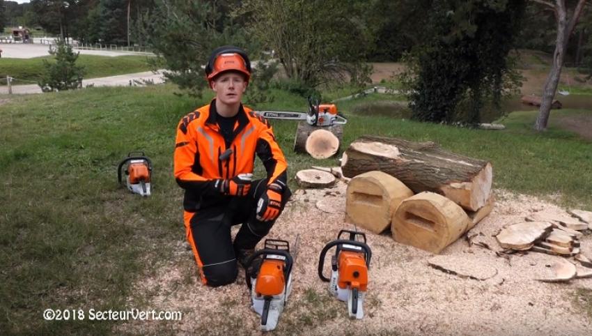 ANDREAS STIHL S.A.S. : Découvrez la STIHL MS 462 C-M, LA nouvelle tronçonneuse thermique «modèle 2018» pour les professionnels de la forêt, présentée par Maximilien POTIGNON