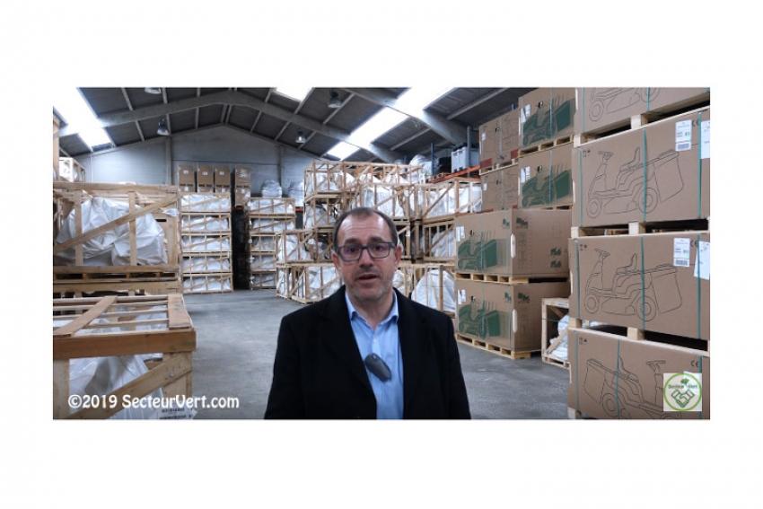 Interview de Martial RIALLIN, Directeur Général de SABRE France, au Centre Logistique tondeuses autoportées et Zero Turn pour l'importation de Castelgarden, Ferris et Simplicity