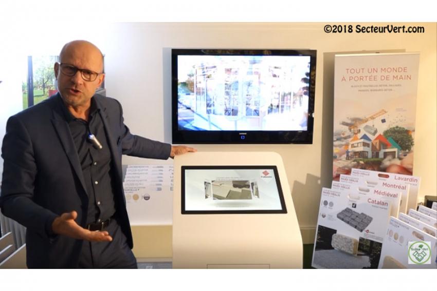 GROUPE FABEMI : Découvrez le « Corner Digital Jardin », l'innovation qui présente aux particuliers, dès janvier 2019 dans des points de ventes sélectionnés, les Collections d'Extérieurs BRADSTONE et CARRÉ D'ARC pour jardins et piscines