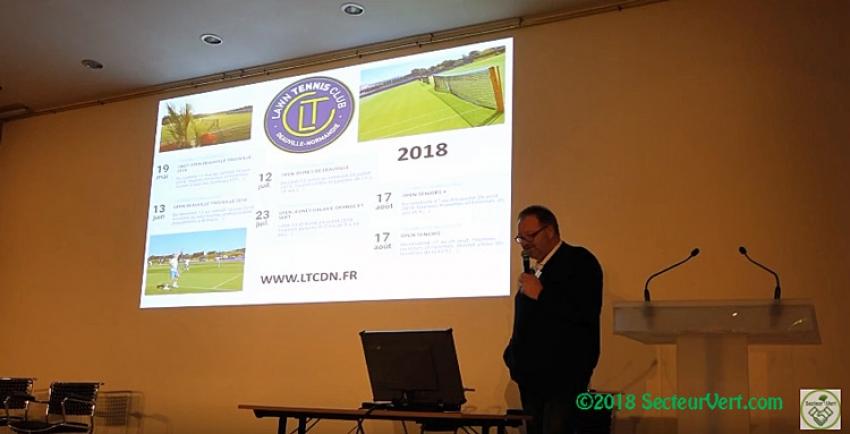 PITCH CONCEPT : Vincent SAVOURAT à présenté le Lawn Tennis Club Deauville Normandie à l'Assemblée Générale Ordinaire de la Société Française des Gazons le 23 Janvier 2018