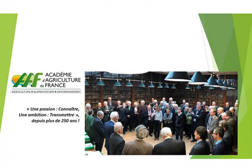 ACADEMIE D'AGRICULTURE DE FRANCE : «Production agricole et épidémie de Covid19, retour aux fondamentaux ?» par Nadine Vivier, Constant Lecoeur, Michel Dron, Jacques Gasquez, Jean Claude Pernollet, Marc Delos