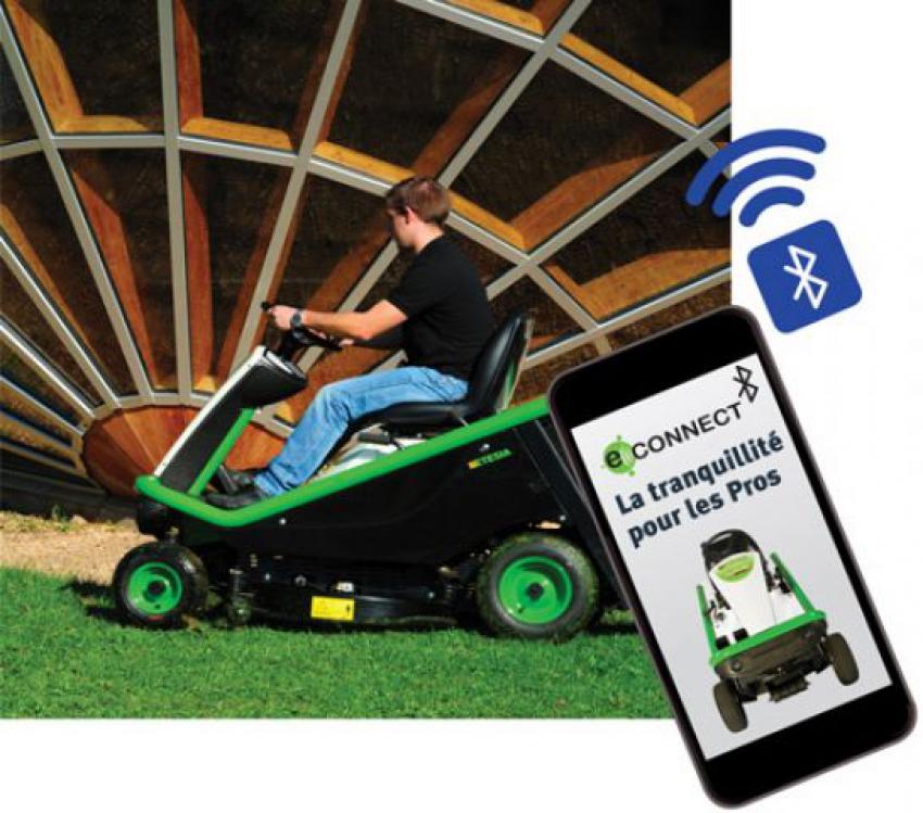 ETESIA : Découvrez l'application ETESIA e-CONNECT dédiée à la nouvelle génération de matériels pour espaces verts dont les autoportées HYDRO 80 e-CONNECT à télématique embarquée