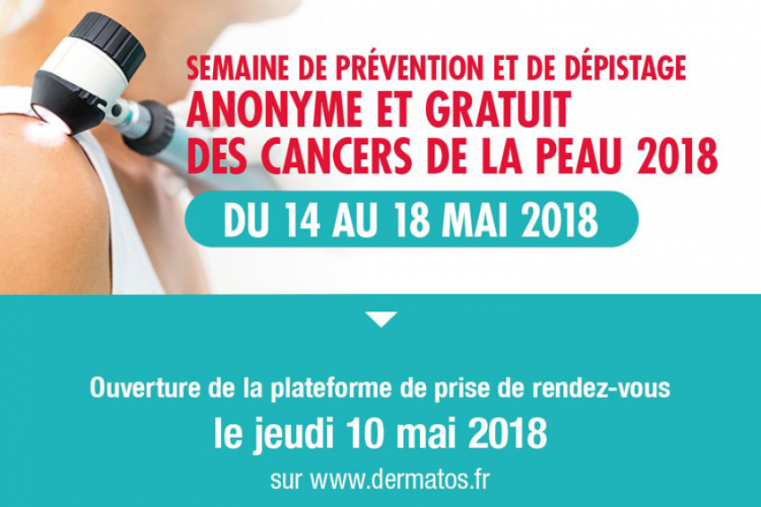 Jardiniers amateurs ou professionnels, protégez-vous du soleil et pensez à la semaine de prévention des cancers de la peau et de dépistage actif, anonyme et gratuit du 14 au 18 mai 2018 avec le Syndicat National des Dermatos-Vénéréologues